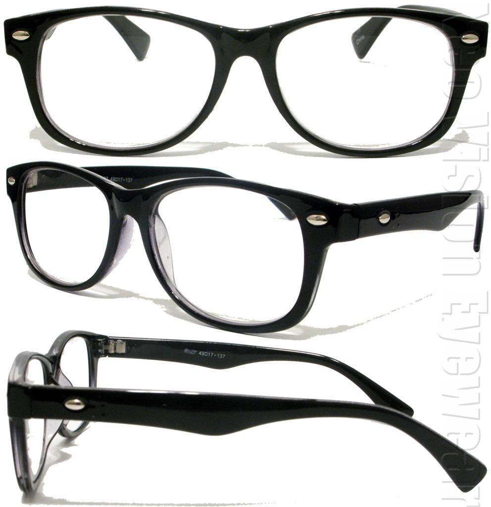 Wayfarer Clear Lenses Reading Glasses Various Strengths ...