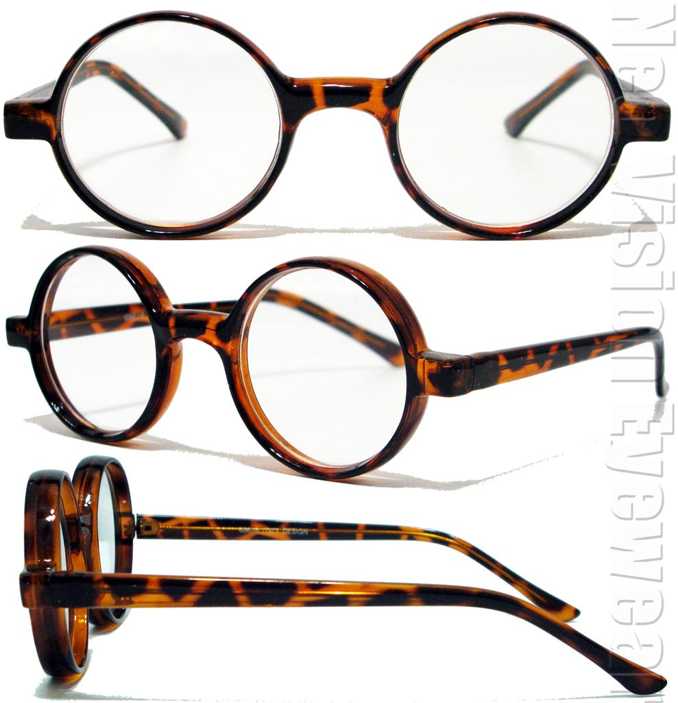 Glasses Frame Color Skin Tone : Round Frame Clear Harry Vintage Style Reading Glasses ...