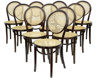SET OF 10 THONET BENTWOOD STYLE DINING CHAIRS EBay