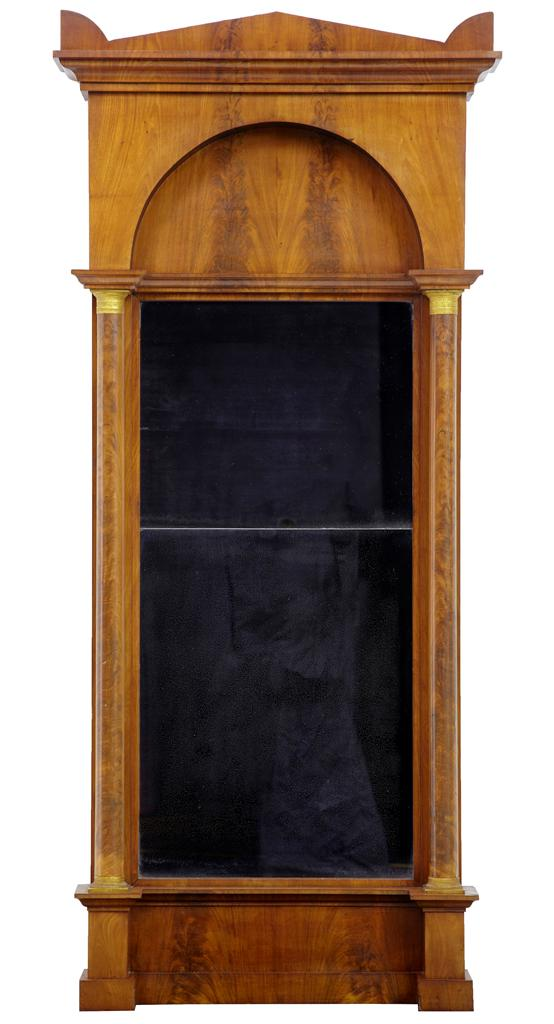 19TH-CENTURY-EMPIRE-MAHOGANY-PIER-MIRROR