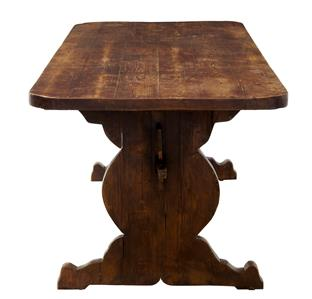 Details About 19TH CENTURY RUSTIC PINE REFECTORY DINING TABLE