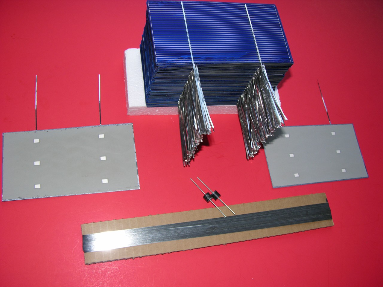 how to make solar cell from transistor