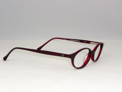Timberland Red Womens Oval Plastic Eyeglass Frame 49 eBay