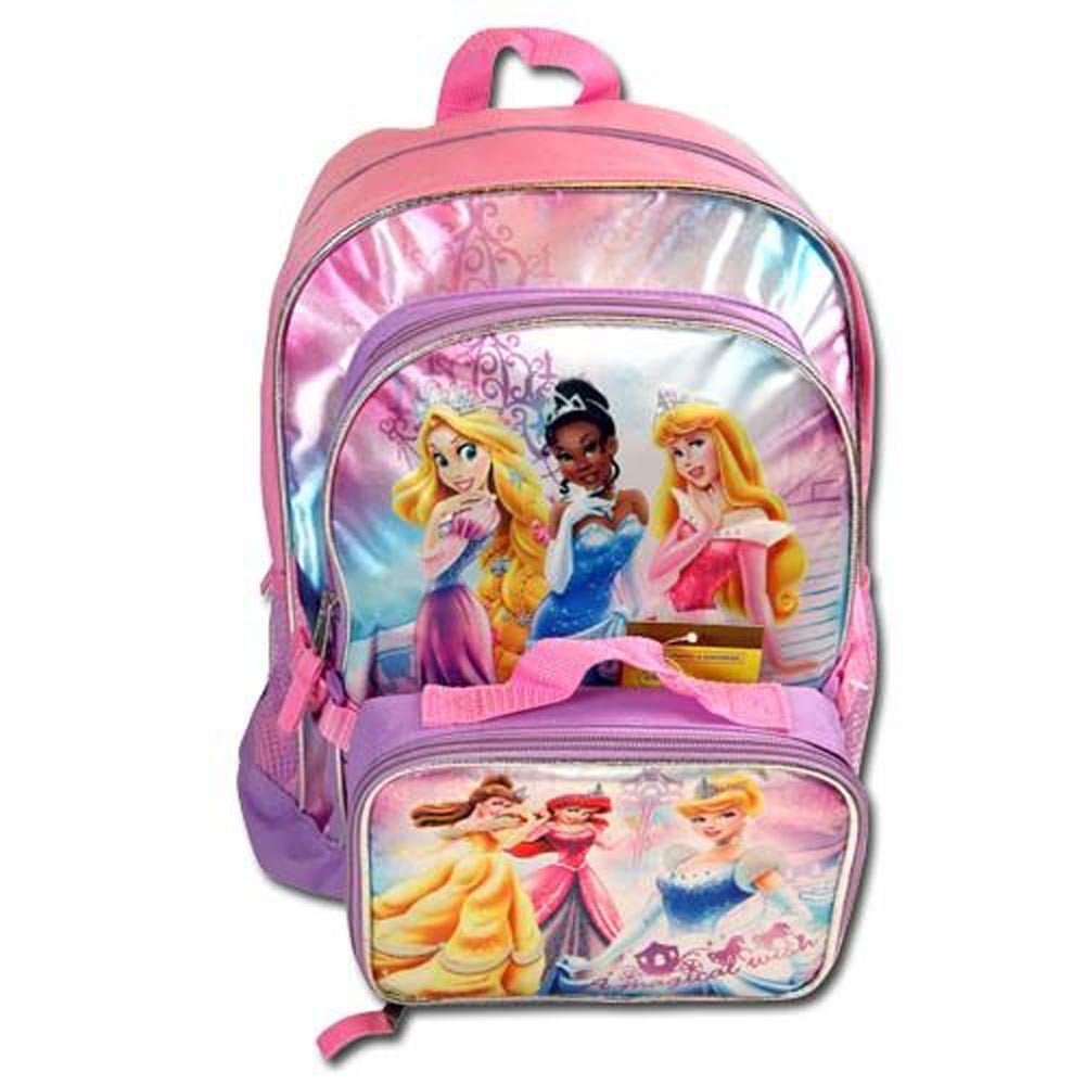 Girls School Backpack & Insulated Lunch Bag DISNEY PRINCESS Belle ...