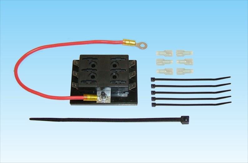 Gl1200 Alternator Conversion Kit : Accessory fuse block kit circuit for goldwing gl