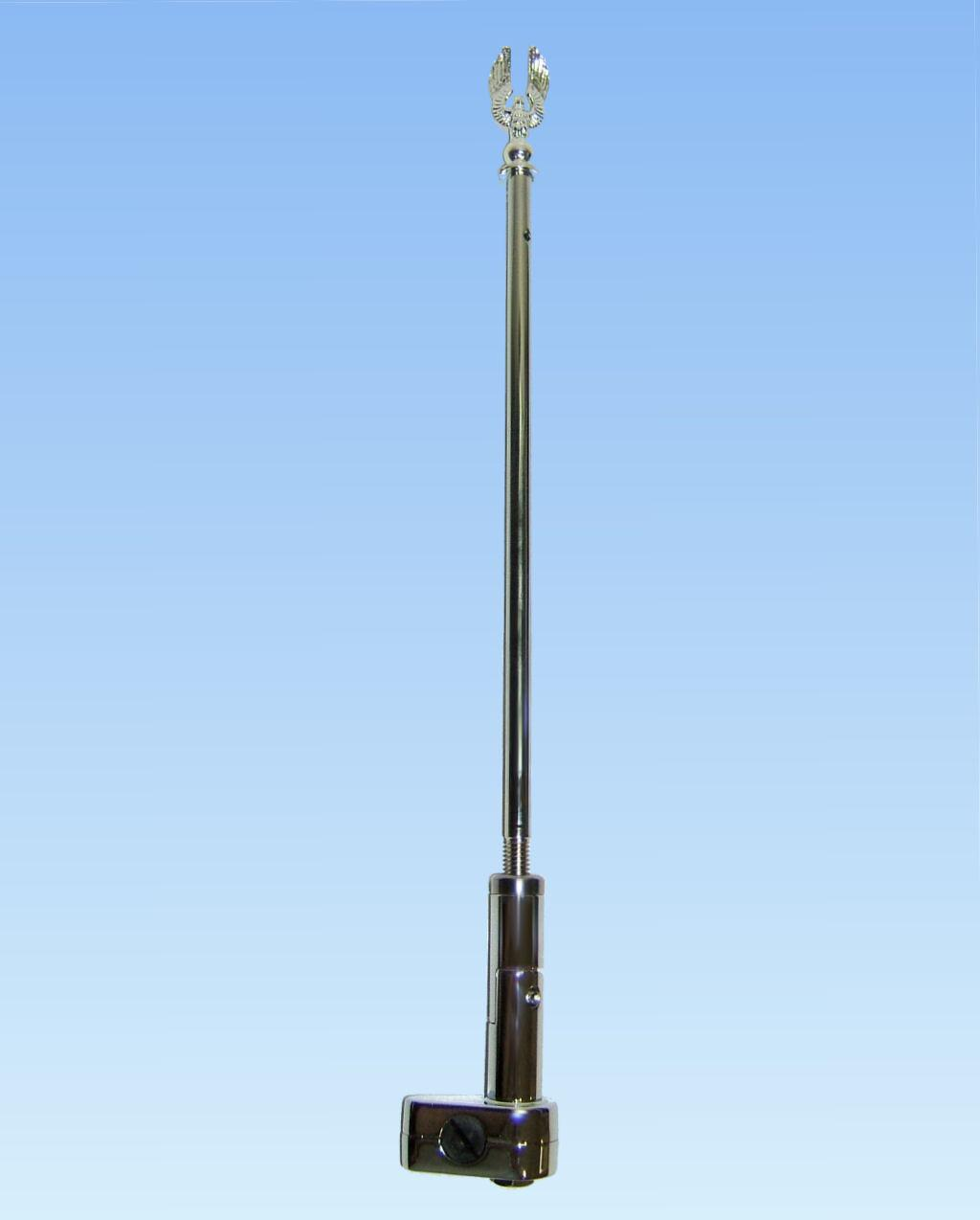 Clamp On Flag Pole Holder : Adjustable folding flagpole set by add on for goldwing