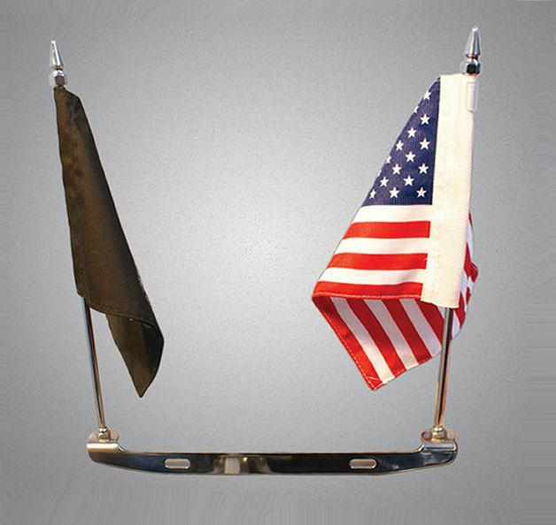 rivco license plate mounted double flag holder can am. Black Bedroom Furniture Sets. Home Design Ideas
