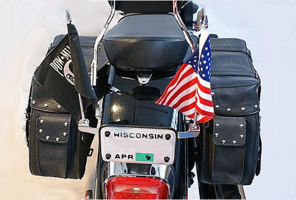 Rivco License Plate Mounted Double Flag Holder Can Am ...