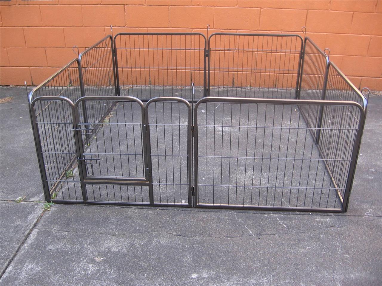 Brand new pet dog exercise enclosure fence play pen run for Dog fence enclosure