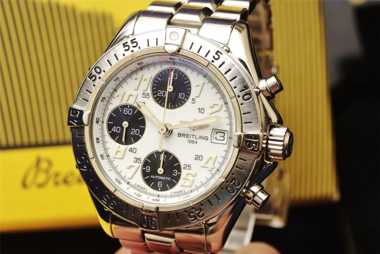 breitling chronograph a13335 ss authentic automatic s