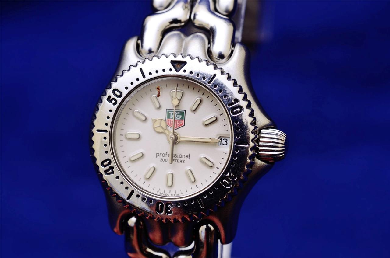 tag heuer sel professional stainless steel authentic