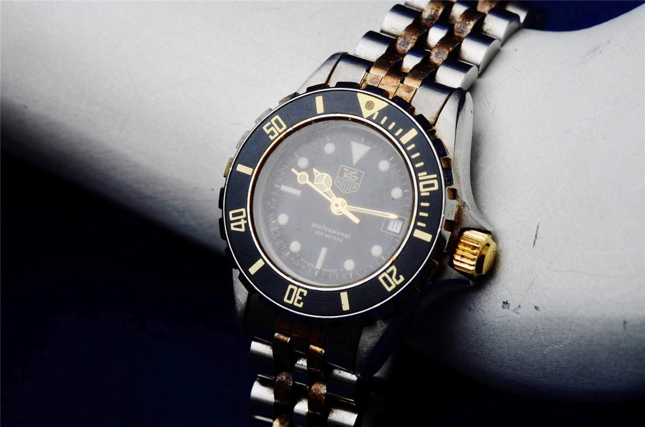 tag heuer 1000 professional ss gold authentic diver