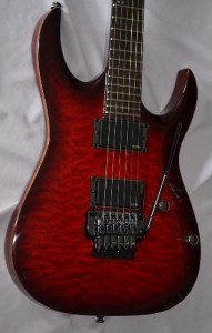 Ibanez RGA 72 TQM E Archtop Electric Guitar Red Flame Top, EMG 81, 85