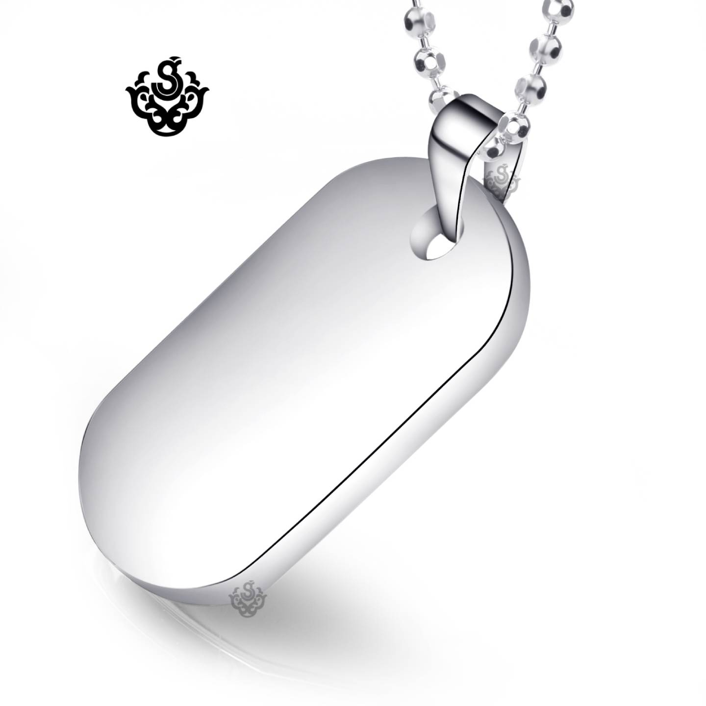 New Stainless Steel Zodiac Dog Tag Pendant Men S Women S: Silver Dog Tag Plain Pendant Stainless Steel Necklace