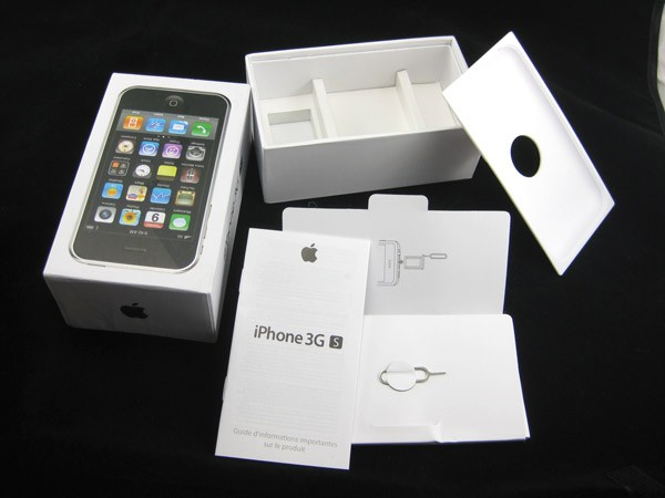 White IPhone 3gs 32gb Full Box Packing BOX TRAY MANUAL