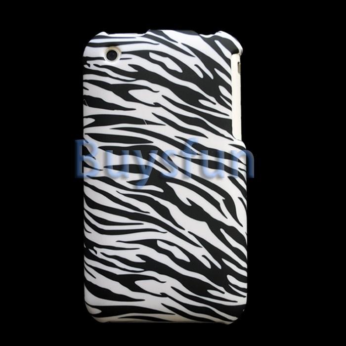 BLACK Zebra Hard Case Cover For Apple iPhone 3G 3GS