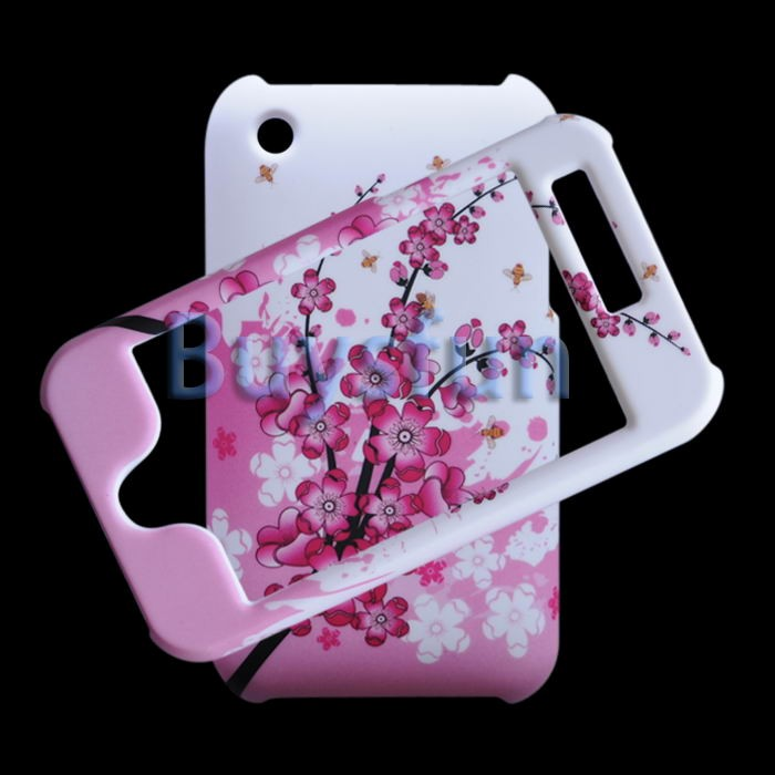 Flower STYLE FULL FRONT AND BACK HARD CASE COVER FOR APPLE IPHONE 3G