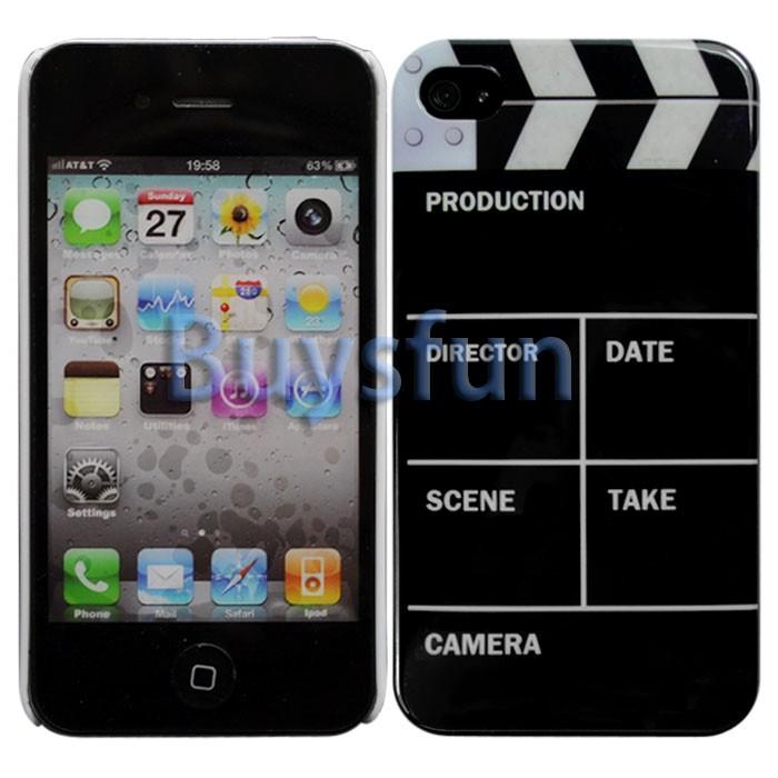 Clap Clapper Board Slate Movie Cut Hard Case Cover For Apple iPhone 4
