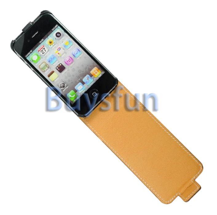 Leopard Flip Vertical Hard Case Cover Skin New For Apple iPhone 4S 4