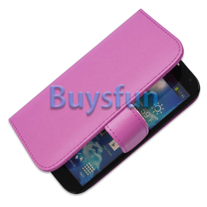 Samsung wallet phone case for samsung galaxy s3 : Purple Card Slot Wallet Stand Leather Cover Case for Samsung Galaxy S4