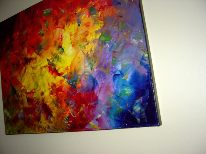ABSTRACT MODERN WALL DECOR OIL KNIFE PAINTING Eugenia Abramson