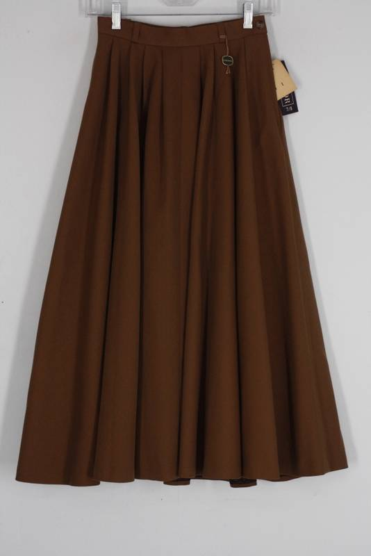 womens new condor brown pleated 100 wool western
