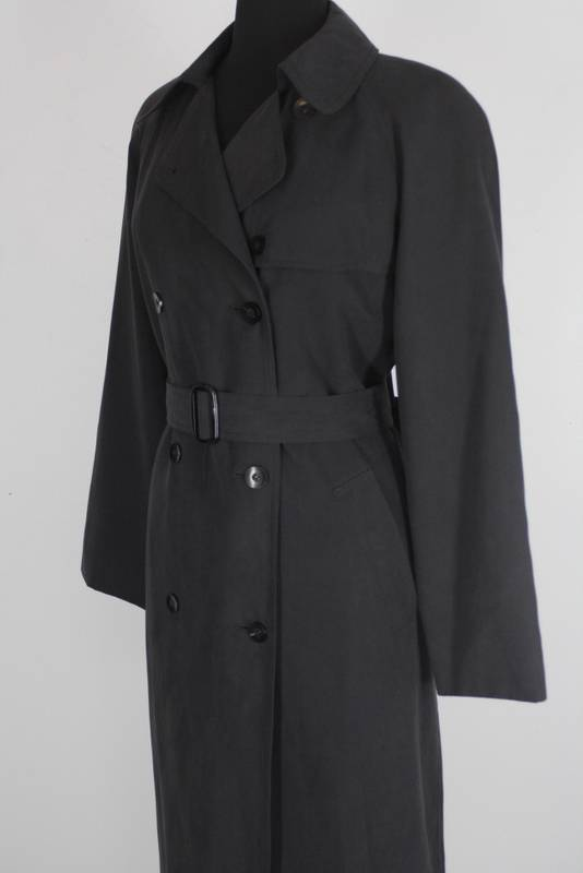 Womens LONDON FOG Navy Blue weather resistant belted Spy ...