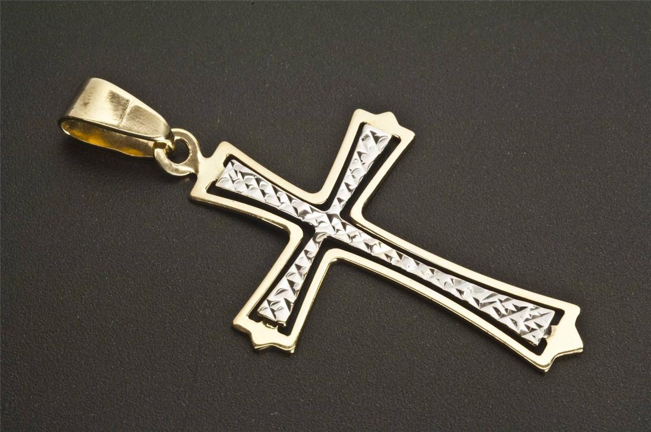 a beautiful 9ct solid gold cross pendant ebay