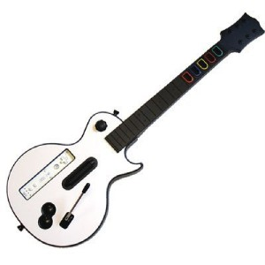 brand new wii wireless guitar for wii guitar hero and rock band games ebay. Black Bedroom Furniture Sets. Home Design Ideas