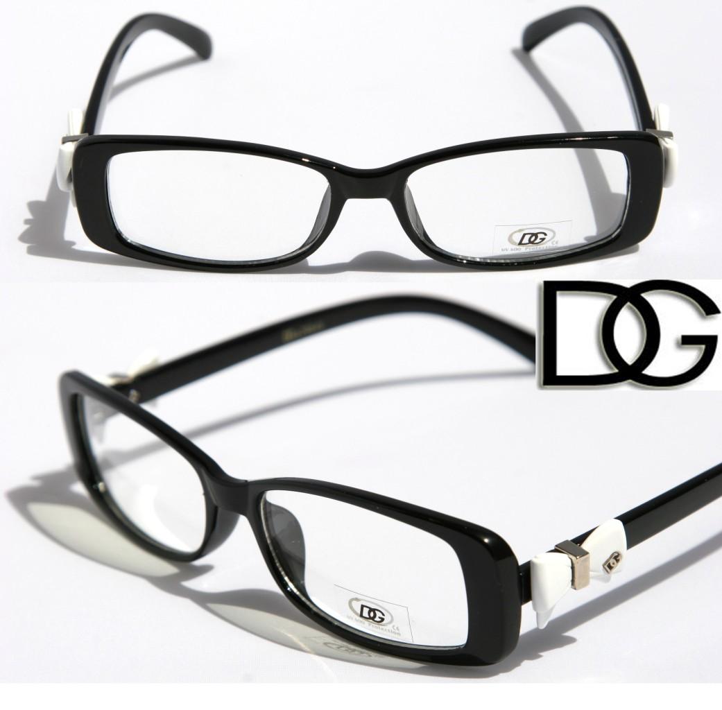 new dg womens bowtie fashion designer eye glasses clear