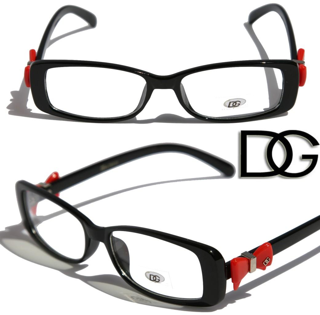 NEW DG Womens Bowtie Fashion Designer Eye-glasses clear lens Frame ...
