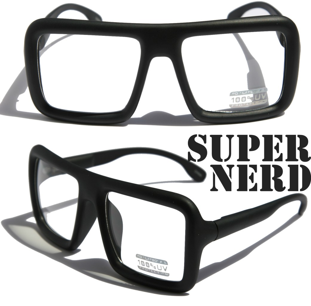 Big Thick Frame Glasses : Large Retro Nerd Bold Thick Square Frame Classic Eye ...