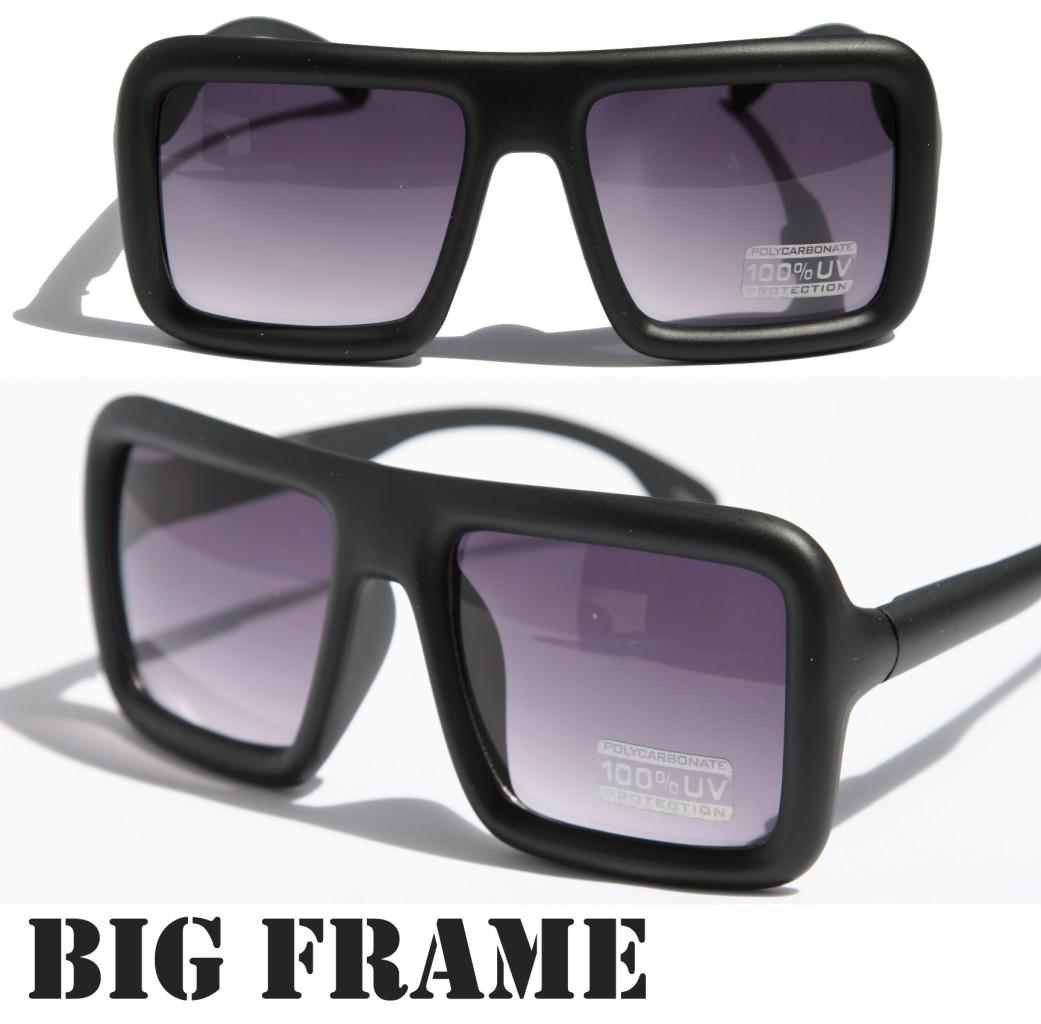 Large Retro Nerd Bold Thick Square Frame Classic Eye ...