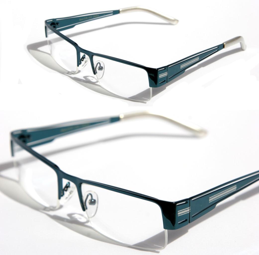 Rectangular Half Rimless Metal Sun-Glasses Optical RX ...