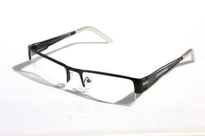 Rimless Glasses Distortion : Rectangular Half Rimless Metal Reader Reading Glasses +1 ...