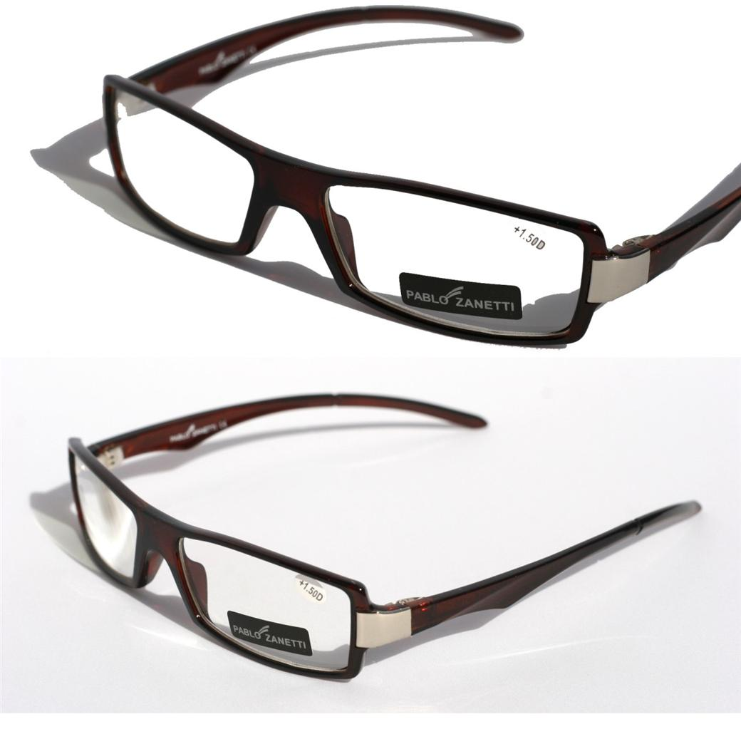 pablo zanetti lightweight reading glasses reader brown 1