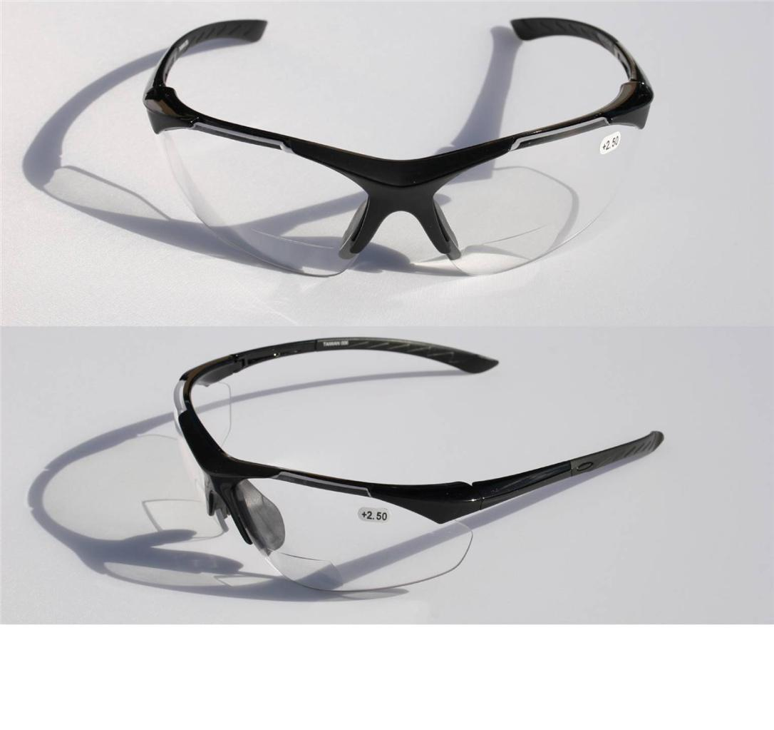 bifocal reading reader clear lens sun glasses half