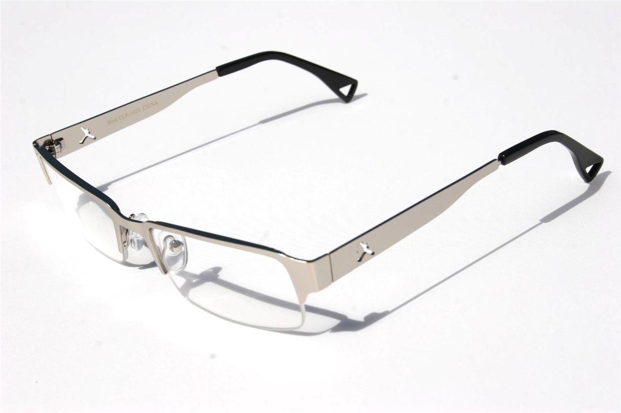 Jordan RECTANGLE SLIM SMART LOOKING GLASSES Fashion Eyewear Half ...