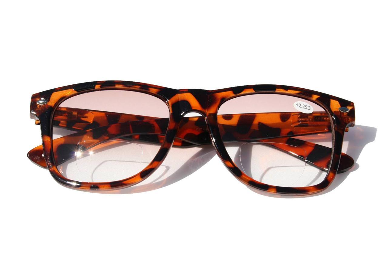 large bifocal reading sunreader glasses light smoke tint