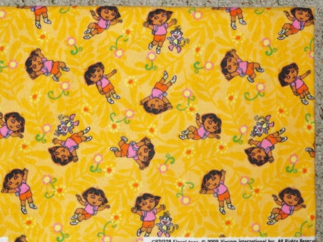 CRIB-TODDLER-SHEET-OPTIONS-FLANNEL-DORA-THE-EXPLORER-AND-BOOTS