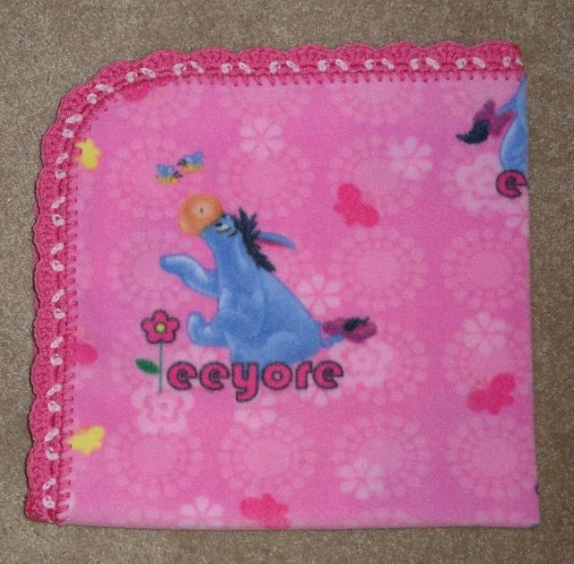 CRADLE-RECEIVING-BLANKET-EEYORE-ON-DARK-PINK-2-CHOICE