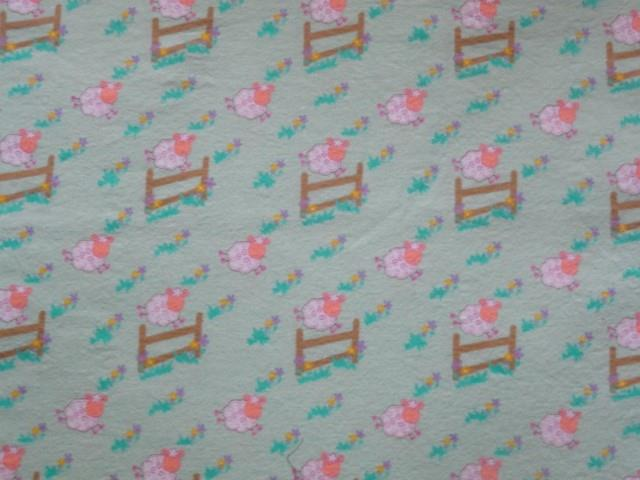 Crib Sheet Fitted Flannel Counting Sheep Jumping The