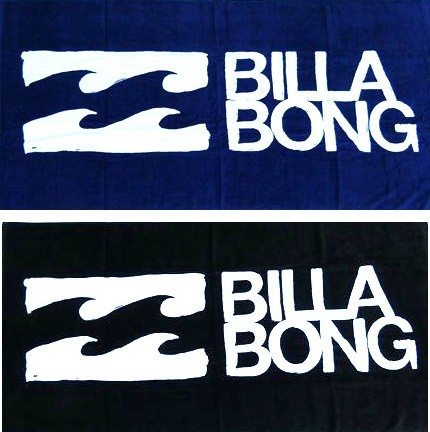 Billabong-Brand-New-Signature-Beach-Swimming-Pool-Towel-Black-Blue-Billy