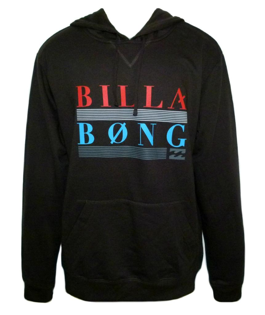 BILLABONG-New-Mens-Surf-Hoodie-Jumper-CORPORAL-Black-Size-S-Small-M-Medium
