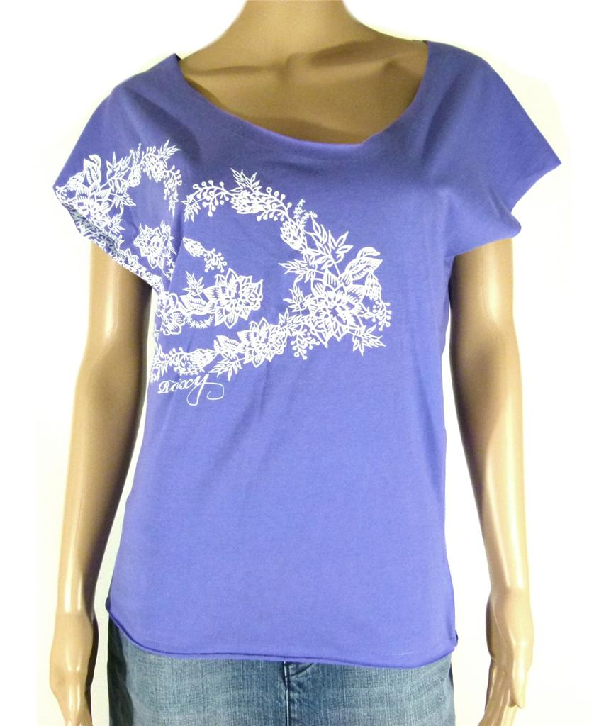 ROXY-New-Ladies-Womens-T-Shirt-Top-Tee-White-Black-Pink-Indigo-6-8-10-12
