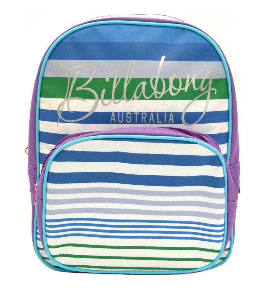 BILLABONG-New-Girls-Backpack-Signature-Kindy-School-Bag-Purple