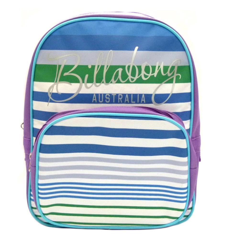 BILLABONG-New-Girls-Backpack-Signature-Kindy-School-Bag-Purple