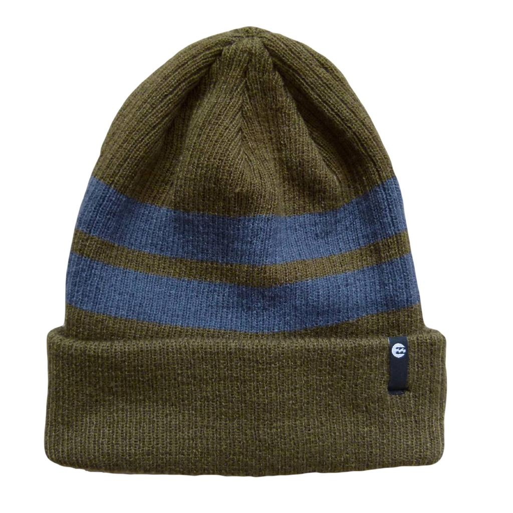 BILLABONG-New-Textured-Knit-Beanie-Hat-Cap-Khaki