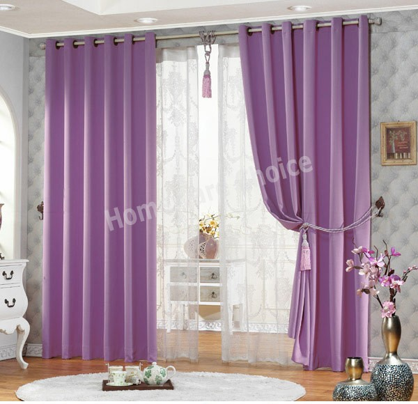 Styles of purple blackout curtains