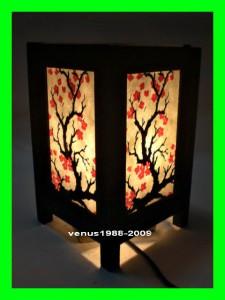 Asian Oriental Home Spa Garden Decor Bedside Table Lamp Cherry Blossom